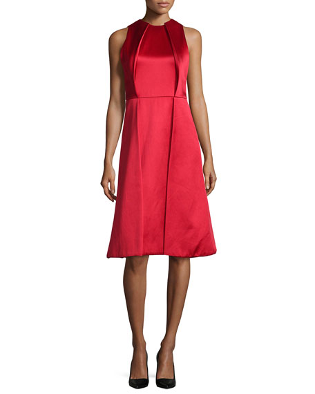 Jason Wu Sleeveless Twill Pleated-Front Dress