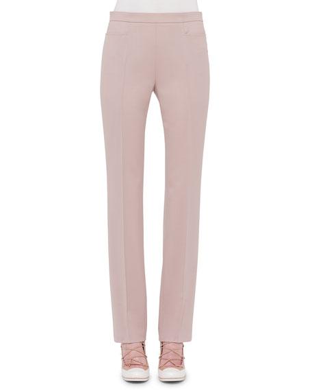 Akris punto Francoise Straight-Leg Pants, Cord