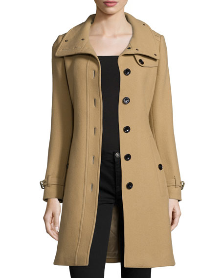 Rushfield Single-Breasted Trench Coat, Camel