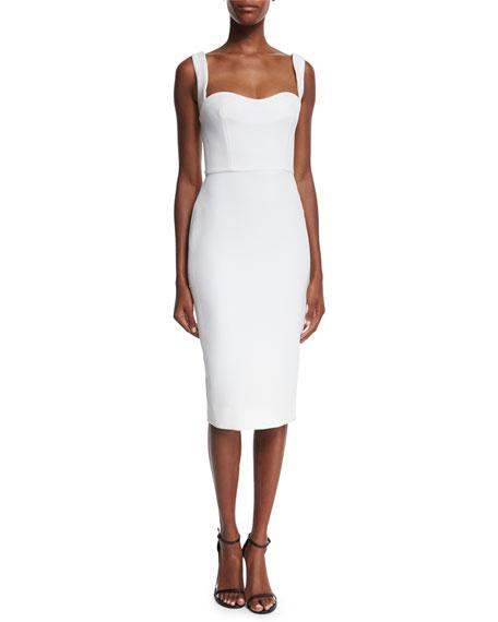 Victoria Beckham Sleeveless Sweetheart-Neck Dress, White