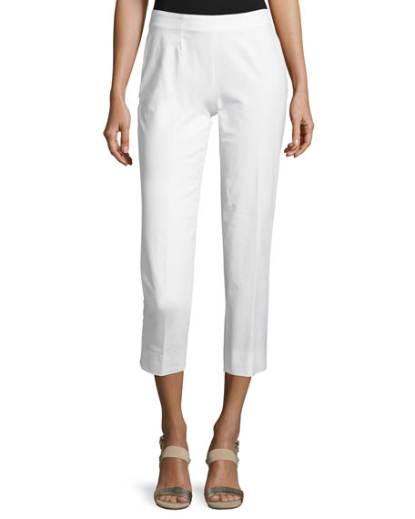 Piazza Sempione Audrey Cropped Pants, White