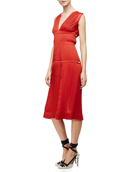 Altuzarra Sleeveless Plisse A-Line Dress, Windsor