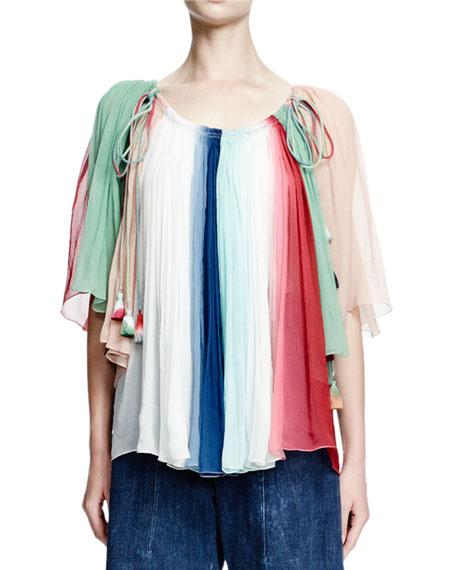 Chloe Off-The-Shoulder Ombre Top, Multi Colors