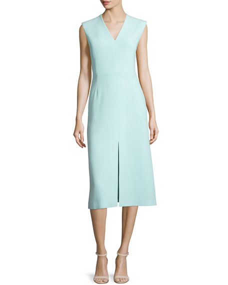 Escada Sleeveless V-Neck A-Line Dress, Mint