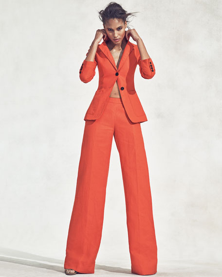 Altuzarra High-Waist Wide-Leg Pants, Sunset