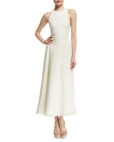 Ralph Lauren Rosalyn Racerback Midi Dress, Cream