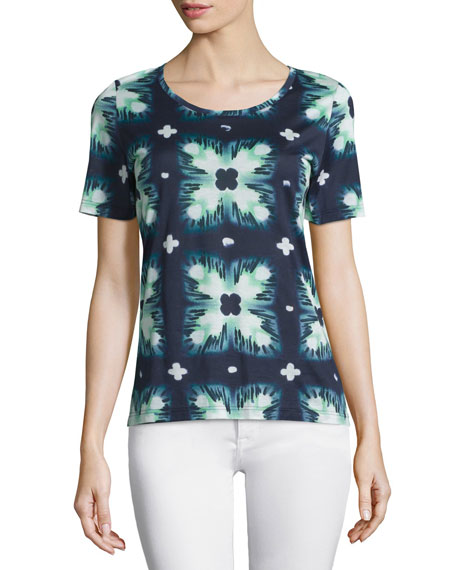 Burberry Brit Short-Sleeve Ink-Dyed Tee