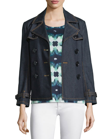 Burberry Brit Braunton Short Denim Trenchcoat
