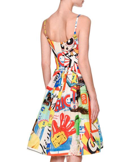 Powerpuff Girls Tank Dress W/Pockets, White/Multi