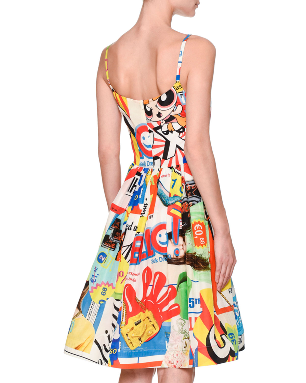 702f965a16 Moschino Powerpuff Girls Tank Dress W/Pockets, White/Multi | Neiman Marcus