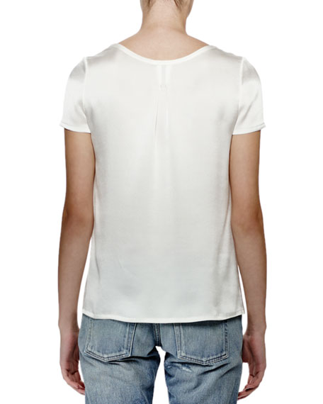 Short-Sleeve Tee W/Pocket, Nacre