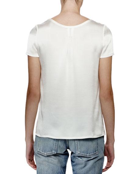 Short-Sleeve Tee W/Pocket, Nacre