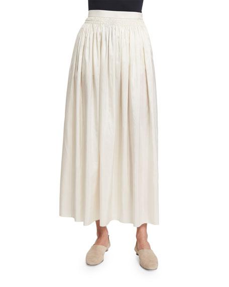 THE ROW Moos Wide-Sleeve Silk Top & Tovo
