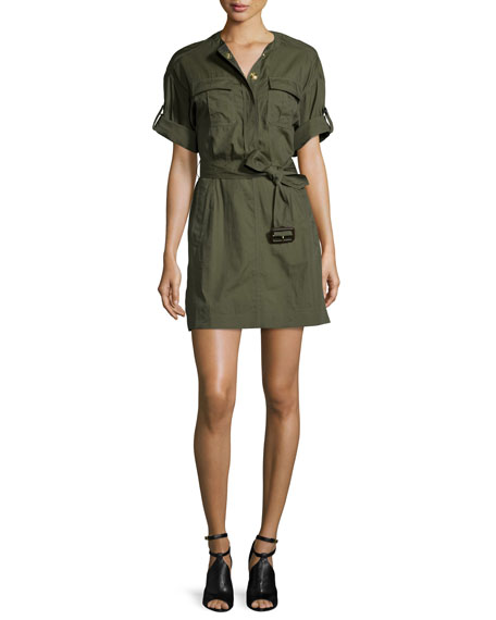 Burberry Brit Lora Military-Inspired Dress