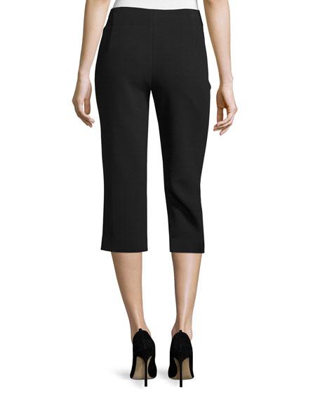 Mid-Rise Slim Cropped Pants, Black