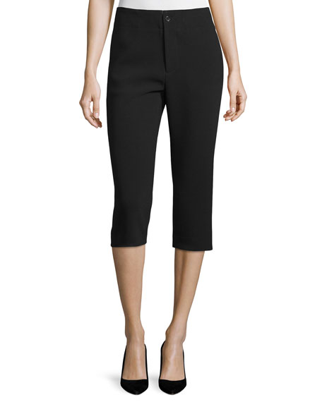 Co Mid-Rise Slim Cropped Pants, Black