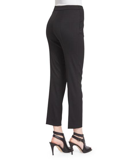 Mid-Rise Skinny Cropped Pants, Black