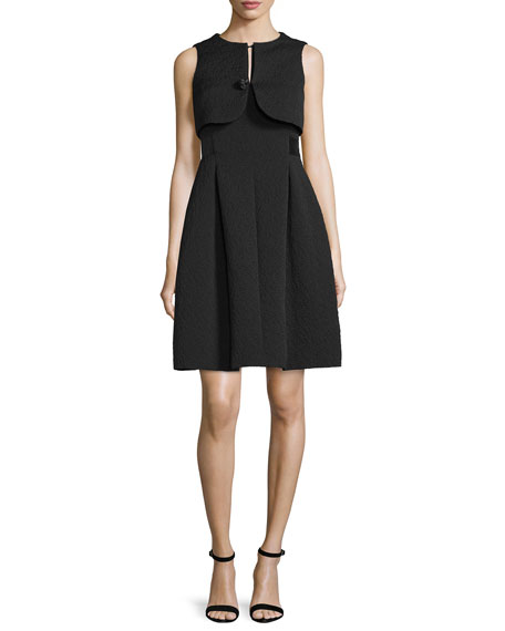 Armani Collezioni Faux-Vest Fit-&-Flare Dress, Black