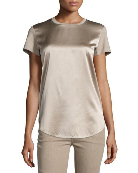 Ralph Lauren Collection Short-Sleeve Combo T-Shirt, Taupe