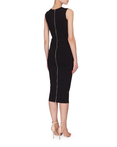 Front-Stripe Sheath Dress