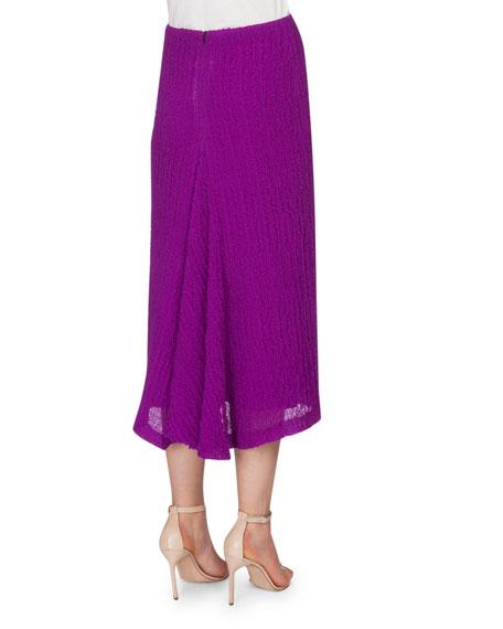beckham textured seersucker pencil skirt plum