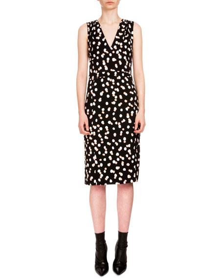 Altuzarra Genevieve Sleeveless Dot-Print Sheath Dress, Black