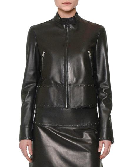 Valentino Studded Leather Biker Jacket & Embellished Leather