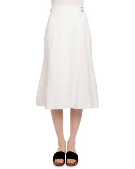 Proenza Schouler High-Waist Trumpet Skirt, Off White