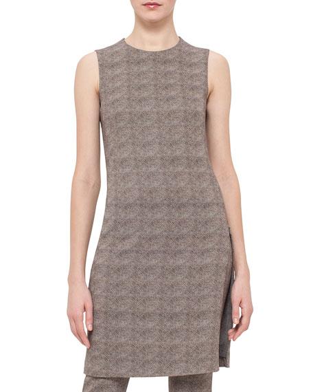 Akris Sleeveless Turtle-Print Sheath Dress, Elephant