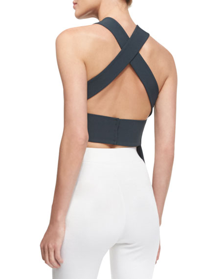 Sleeveless Crisscross-Back Top, Lake