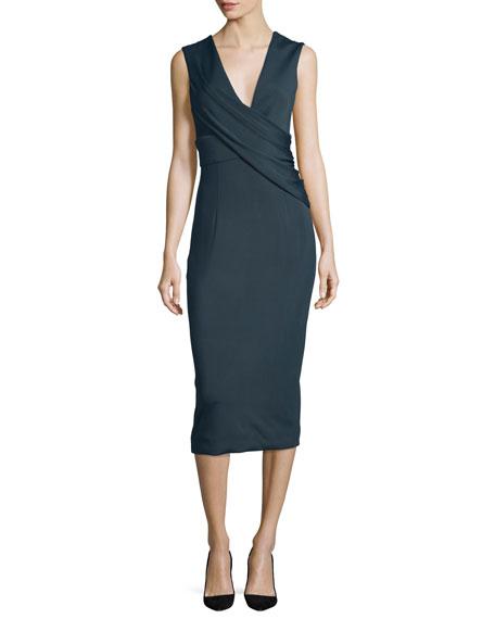 Cushnie Et Ochs Ibiza Jasmine Sleeveless Draped Dress,