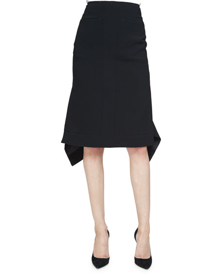 Altuzarra Cyrus Flared-Hem Pencil Skirt, Black