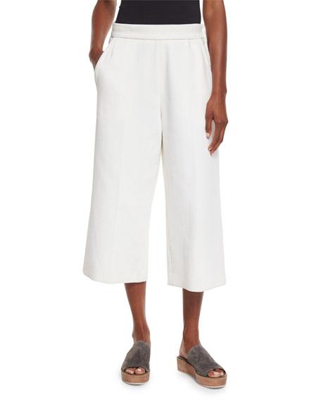 Marni Wide-Leg Cropped Pants, Lily White