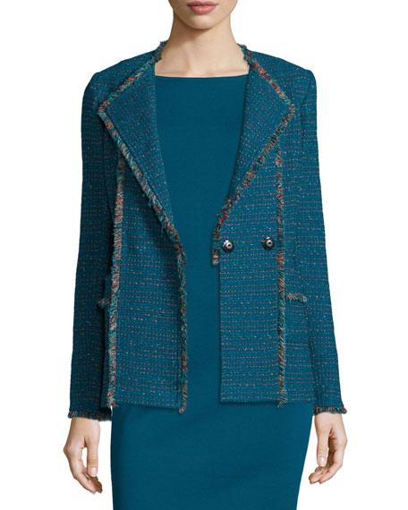 St. John Collection Milano Bateau-Neck Sheath Dress &