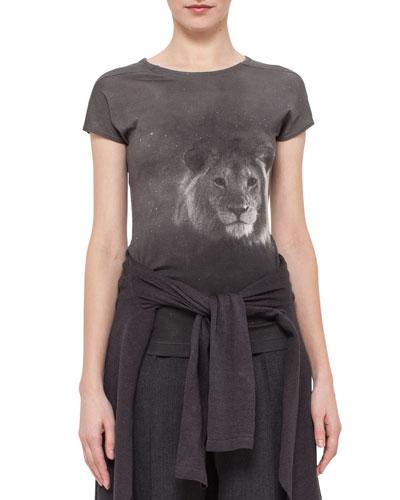 Lion-Head Short-Sleeve T-Shirt, Elephant