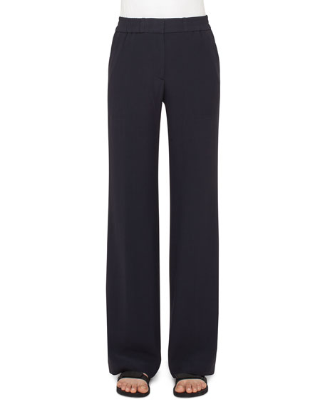 Akris punto Marla Wide-Leg Pants, Navy