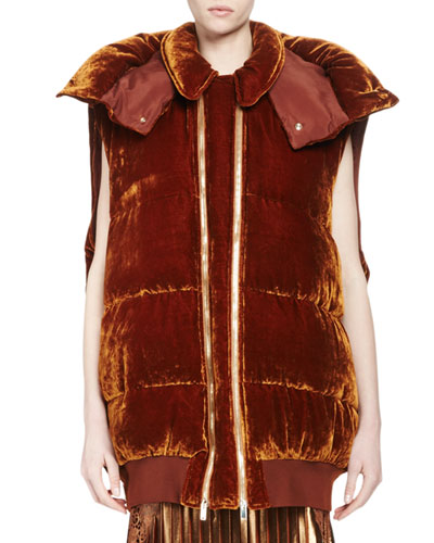 Melissa Long Quilted Velvet Vest, Sienna Reviews