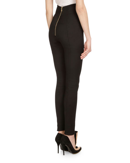 High-Waist Fitted Pants