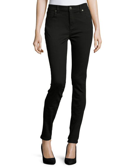 Burberry Low-Rise Denim Skinny Jeans, Black