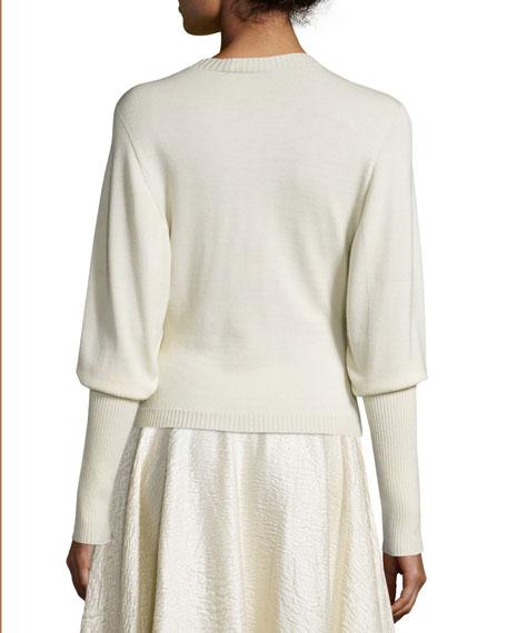Deanna Dolman-Sleeve Sweater, Natural