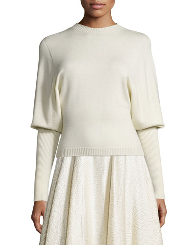 Deanna Dolman-Sleeve Sweater, Natural