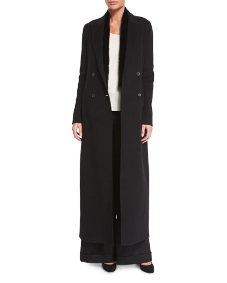 Heiden Long Wool Coat, Black