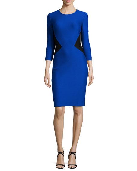 St. John Collection Mauresque Knit 3/4-Sleeve Dress,