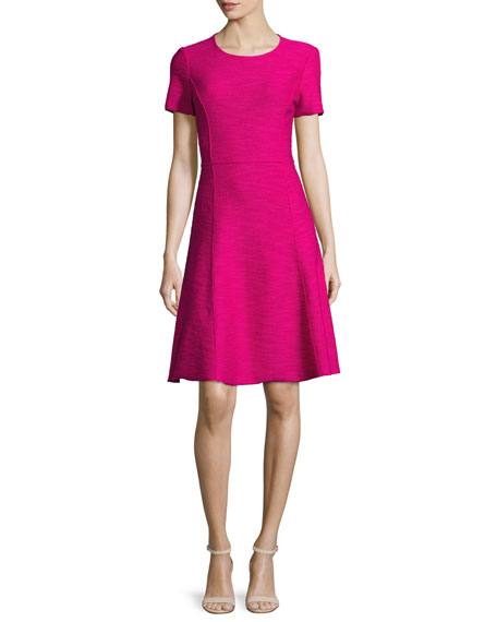 Catalina Knit Short-Sleeve Dress, Orchid