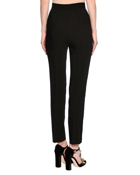 Classic High-Waist Tuxedo Pants, Black