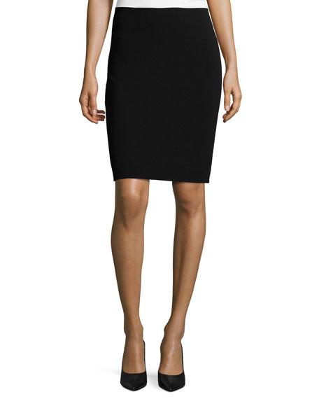 Giorgio Armani Virgin Wool Pencil Skirt, Black