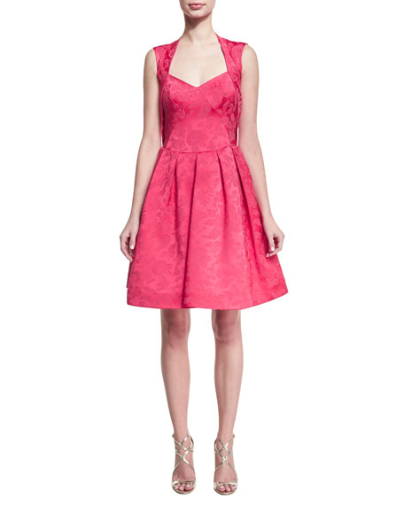 Zac Posen Sleeveless Jacquard Cocktail Party Dress
