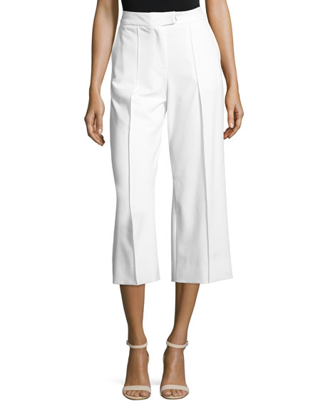 High-Rise Wide-Leg Pants, White