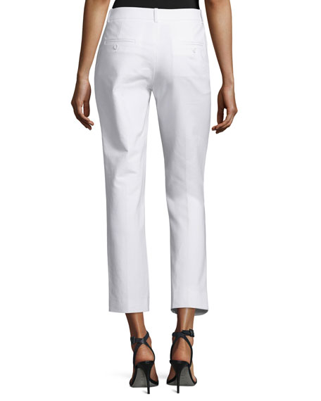 Samantha Cropped Skinny Pants, Optic White