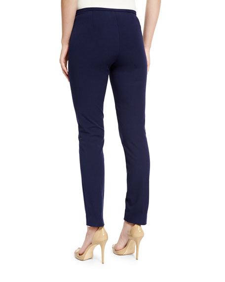 Side-Zip Skinny Pants, Maritime